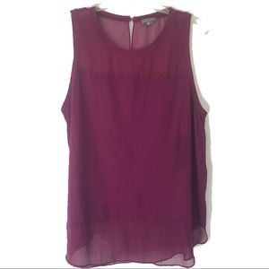 Vince Camuto tank top with sheer details